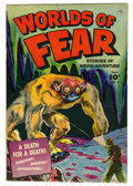 Golden Age (1938-1955):Horror, Worlds of Fear #6 (Fawcett, 1952) Condition: FN+....