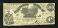 Confederate Notes:1861 Issues, T13 $100 1861. Edge tears and ink erosion are found on the perimeter of this C-note. Good-Very Good.Est. (40-6...