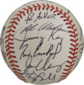 Autographs:Baseballs, 1985 Toronto Blue Jays Team Signed Baseball. The division winnersare represented here by the 20 high-quality signatures we...