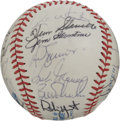 Autographs:Baseballs, 1985 Milwaukee Brewers Team Signed Baseball. Here we offer atremendous memento with a total of 25 signatures from the 1985...