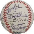 Autographs:Baseballs, 1985 California Angels Team Signed Baseball. The California Angels'1985 squad is represented here with this high-quality o...