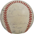 Autographs:Baseballs, 1984 New Yankees Team Single Signed Baseball. Twenty signaturesfrom the 1984 New York Yankees appear on the surface of the...