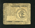 Colonial Notes:Continental Congress Issues, Continental Currency May 10, 1775 $3 Extremely Fine. This note hasa center lateral and vertical fold. The penmanship has fa...