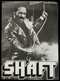Shaft (MGM, 1971). Pressbook (Multiple Pages). Blaxploitation. Starring Richard Roundtree and Moses Gunn. Directed by Go...
