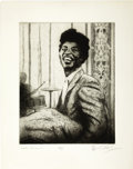 "Music Memorabilia:Original Art, Little Richard Artist's Proof by Ronnie Wood. A 15"" x 18.5""artist's proof of a pencil sketch of Rock and Roll pioneer Littl...(Total: 1 Item)"