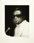 "Music Memorabilia:Original Art, Ray Charles Artist's Proof by Ronnie Wood. A 15"" x 18.5"" artist'sproof of a pencil sketch of music legend Ray Charles, sign...(Total: 1 Item)"