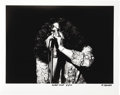 "Music Memorabilia:Photos, Robert Plant Photo by Michael Maltese. A dynamic b&w 20"" x 16""photo of Plant performing with Led Zeppelin, dated April 5, 1...(Total: 1 Item)"