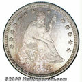 Proof Seated Quarters: , 1880 25C