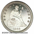 Proof Seated Quarters: , 1883 25C
