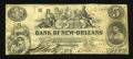 Obsoletes By State:Louisiana, New Orleans, LA- Bank of New-Orleans $5 Feb. 5, 1862. ...