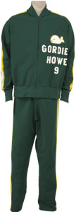 Hockey Collectibles:Equipment, 1977-78 Gordie Howe New England Whaler Warm Up Suit. Given that his 26-year NHL career included numerous awards and accompl...