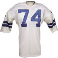 Football Collectibles:Uniforms, Early 1970's Bob Lilly Game Worn Jersey. A number one draft choice of the new Cowboys' franchise during their second season ...
