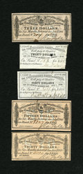 Confederate Notes:Group Lots, Confederate Bond Coupons.. ... (Total: 5 items)