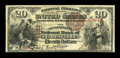 National Bank Notes:Pennsylvania, Pottsville, PA - $20 1882 Brown Back Fr. 496 The Pennsylvania NB Ch. # 1663. ...
