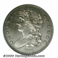1838 Half Dollar, Judd-72, Pollock-75, R.7, PR 62 PCGS. The William Kneass obverse design features a draped bust of Libe...