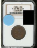Binder Lots--Three Cent Pieces: , 1854 Large Cent, Judd-160, Pollock-187, R.4, MS 64 Brown NGC....