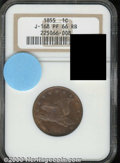 Binder Lots--Three Cent Pieces: , 1855 Flying Eagle Cent, Judd-168 Original, Pollock-193, R.4, ...