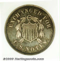 Binder Lots--Three Cent Pieces: , 1863 Ten Cents, Judd-325, Pollock-390, R.6, PR 65 NGC. An o...