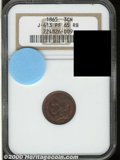Binder Lots--Three Cent Pieces: , 1865 Three Cent Nickel, Judd-413, Pollock-484, R.6-7, PR 65 R...