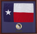 Transportation:Space Exploration, Apollo 12 Flown Texas Flag with Crew Patch....