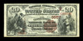 National Bank Notes:Pennsylvania, Philadelphia, PA - $20 1882 Brown Back Fr. 496 The Fourth Street NBCh. # (E)3557. ...