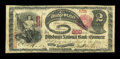 National Bank Notes:Pennsylvania, Pittsburgh, PA - $2 1875 Fr. 391 The Pittsburgh NB of Commerce Ch. # 668. ...