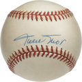 Autographs:Baseballs, Willie Mays Single Signed Baseball. For many people who were luckyenough to see Willie Mays play he quickly became their f...