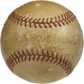 Autographs:Baseballs, Connie Mack Single Signed Baseball. While he was considered one ofthe foremost baseball minds that was ever involved with ...