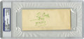 Autographs:Letters, 1957 Ty Cobb Cut Signature, PSA Authentic. Magnificent example ofTyrus Cobb's famous signature has here been applied to a ...