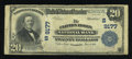 National Bank Notes:Virginia, Clifton Forge, VA - $20 1902 Plain Back Fr. 652 The Clifton ForgeNB Ch. # (S)9177. ...
