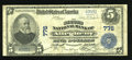 National Bank Notes:Pennsylvania, Pittsburgh, PA - $5 1902 Plain Back Fr. 598 The Second NB of Allegheny Ch. # 776. ...