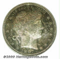 Proof Barber Quarters: , 1907 25C