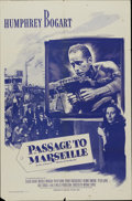 "Movie Posters:War, Passage to Marseille (Warner Brothers, R-1956). One Sheet (27"" X41""). War...."