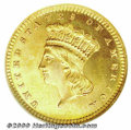 Proof Gold Dollars: , 1877 G$1