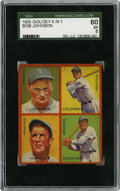 Baseball Cards:Singles (1930-1939), 1935 Goudey 4-in-1 Coleman/Cramer/Johnson/Marcum SGC EX 60.Philadelphia's Athletics are amply represented by this fine EX ...