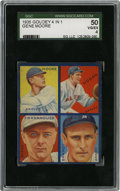 Baseball Cards:Singles (1930-1939), 1935 Goudey 4-in-1 Brandt/Frankhouse/Hogan/Moore SGC VG-EX 50.Boston's Braves of the 1935 season are amply represented her...