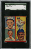 Baseball Cards:Singles (1930-1939), 1935 Goudey 4-in-1 Foxx/Mahaffey/Williams/Higgins SGC EX 60. Fourmembers of the 1935 Athletics are shown here for this ent...