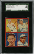 Baseball Cards:Singles (1930-1939), 1935 Goudey 4-in-1 Allen/Brickell/Jonnard/Wilson SGC VG-EX 50. Fantastic grouping of players from the mid-1930s Philadelphi...
