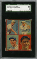 Baseball Cards:Singles (1930-1939), 1935 Goudey 4-in-1 Appling/Dykes/Earnshaw/Sewell SGC EX 60.Tremendous collection of star talent has been amassed for this ...
