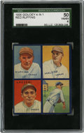 Baseball Cards:Singles (1930-1939), 1935 Goudey Dickey/Lazzeri/Malone/Ruffing SGC VG-EX 50. Four fine members of the 1935 New York Yankees are seen here on thi...