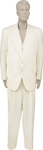 Music Memorabilia:Costumes, Joe Walsh's White Tuxedo. A white tuxedo consisting of jacket, vest, and pants, owned by Joe Walsh, and worn during his wedd... (Total: 1 Item)