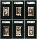 Boxing Cards:General, 1938 Churchman's Boxing Set. Offered is a 1938 Churchman's BoxingSet in overall EX to NM condition. The key cards have bee...