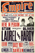 Movie/TV Memorabilia:Memorabilia, Laurel and Hardy British Box Office Card, Liverpool. In 1952 Laurel and Hardy toured British Variety theaters. This is an or... (Total: 1 Item)
