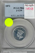 Binder Lots--Three Cent Pieces: , 1870 50C J-993, BN