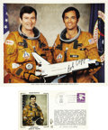 Explorers:Space Exploration, First Day Cover and Color Litho of First Space Shuttle Crew. ...(Total: 2 Items)