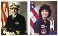 Explorers:Space Exploration, Sally Ride and Richard Truly Signed Photographs.... (Total: 2Items)