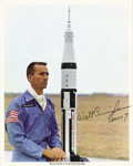 Explorers:Space Exploration, Walt Cunningham Signed Photo....