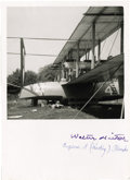 "Explorers:Space Exploration, First Trans-Atlantic Flight: Walter Hinton and Eugene ""Smokey""Rhodes Signed Photograph. ..."