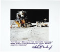 Explorers:Space Exploration, Charles M. Duke, Jr. Signed Oversized Photograph of the Apollo XVILunar Landing.... (Total: 2 Items)