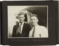 Cliff Henderson's Personal Photo Album, Including Earhart and Lindbergh